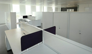 Acoustic Office Storage Tambour Cupboard