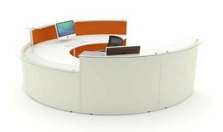 Acoustic Reception Desk DDA Curved