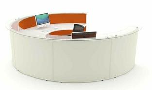 Acoustic Reception Desk Curved