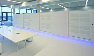 Acoustic Office Storage Sliding Door Cabinet