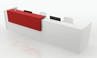 Acoustic Reception Desk Rectangular