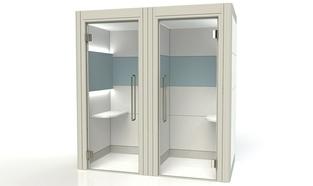 Acoustic Booths Double Phone